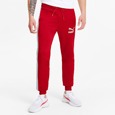 Pantaloni sportivi in maglia Iconic T7 uomo, High Risk Red, small