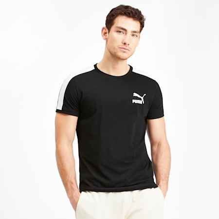 T-shirt Iconic T7 para homem, Puma Black, small