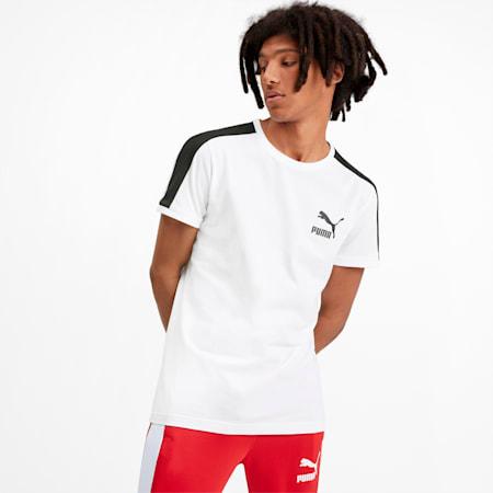 Iconic T7 Herren T-Shirt, Puma White, small