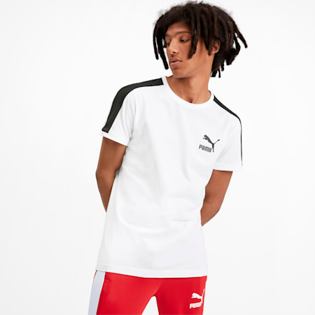 Iconic T7 T-shirt voor heren, Puma White, small
