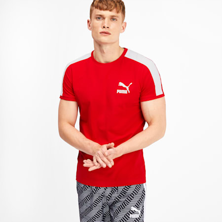 T-Shirt Iconic T7 pour homme, High Risk Red, small