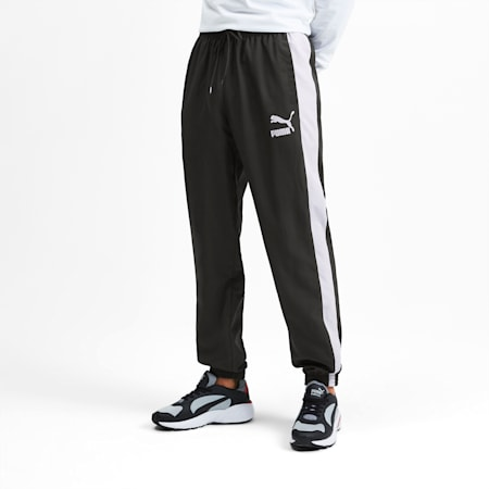 Iconic T7 Woven Men's Track Pants, Puma Black, small