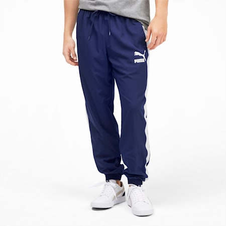 Iconic T7 Woven Men's Track Pants, Peacoat, small