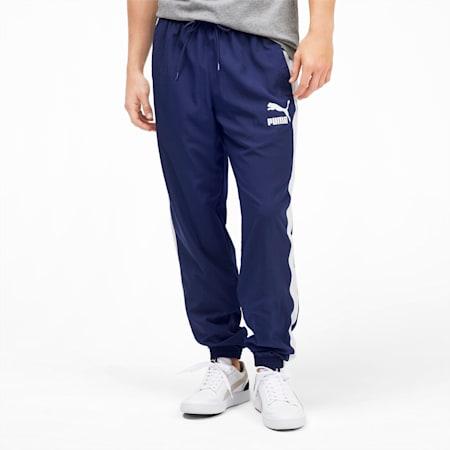 Pantalon de survêtement tissé Iconic T7 pour homme, Peacoat, small