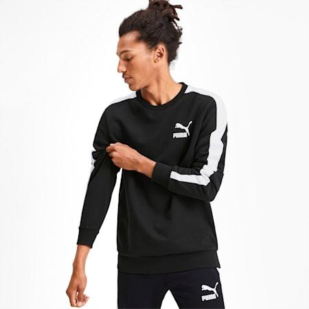 Sweatshirt de decote redondo Iconic T7 para homem, Puma Black, small