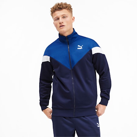 Iconic MCS Men's Track Jacket, Peacoat, small-IND