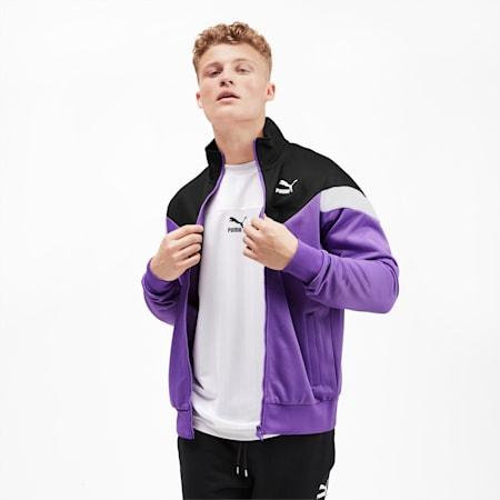 Iconic MCS Men's Track Jacket, Purple Glimmer, small