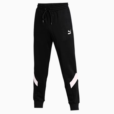 Iconic MCS Knitted Men's Track Pants, Puma Black, small-IND
