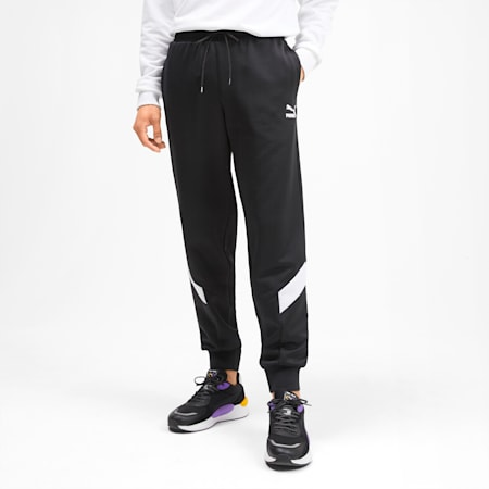 Iconic MCS Knitted Men's Track Pants, Puma Black, small-SEA