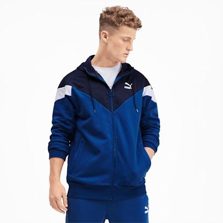 Iconic MCS Full Zip Men's Hoodie, Galaxy Blue, small