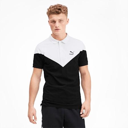 Iconic MCS Pique Men's Polo Shirt, Puma Black, small-SEA
