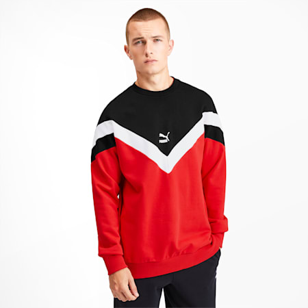Iconic MCS Men's Crewneck Sweatshirt, High Risk Red, small