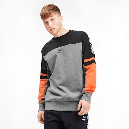 PUMA XTG Men's Crewneck Sweatshirt, Medium Gray Heather, small