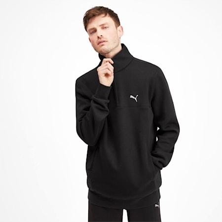 Epoch Hybrid Savannah Half Zip Men's Pullover, Puma Black, small