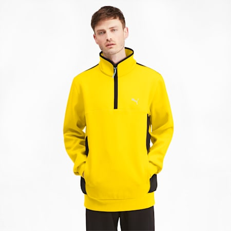 Epoch Hybrid Savannah Half Zip Men's Pullover, Sulphur, small