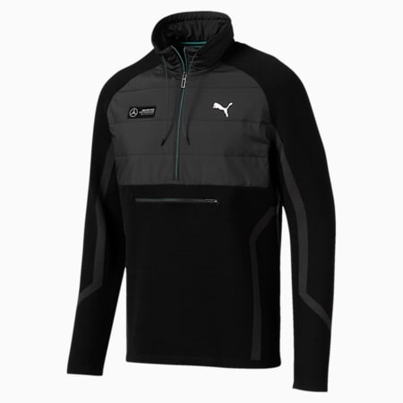 Mercedes AMG Petronas RCT evoKNIT Knitted Men's Sweater, Puma Black, small-IND