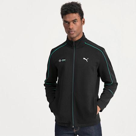 Mercedes AMG Petronas Men's Sweat Jacket, Puma Black, small-IND