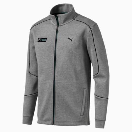 Mercedes AMG Petronas Men's Sweat Jacket, Medium Gray Heather, small