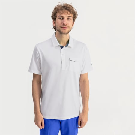Donegal Herren Golf Polo, Bright White, small