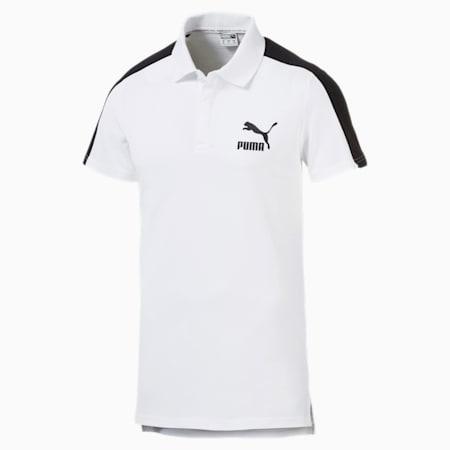 Iconic T7 Men's Polo Shirt, Puma White, small-SEA