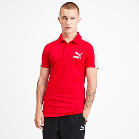 Iconic T7 Men's Polo Shirt, High Risk Red, small-SEA