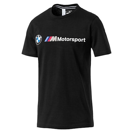 BMW M Motorsport Logo Men's T-Shirt, Puma Black, small-IND