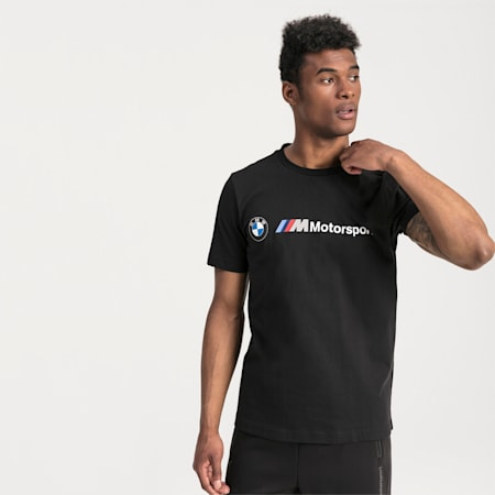 BMW M Motorsport Logo Men's Tee, Puma Black, small-SEA