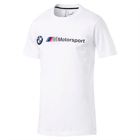 BMW M Motorsport Logo Regular Fit Men's T-Shirt, Puma White, small-IND