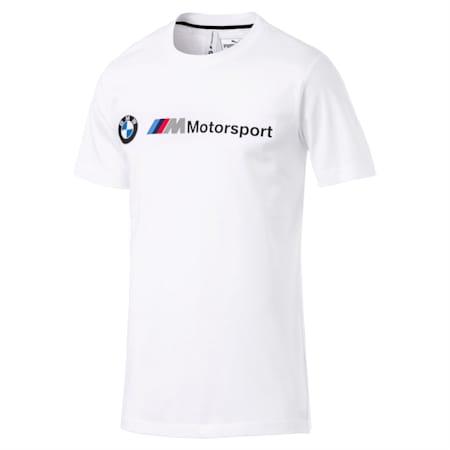 BMW M Motorsport Logo Men's Tee, Puma White, small-SEA