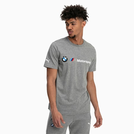 BMW M Motorsport Logo Men's Tee, Medium Gray Heather, small