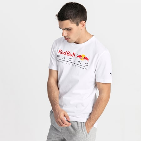 Red Bull Racing Logo Herren T-Shirt, Puma White, small