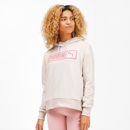 Classics No.2 Logo Women's Hoodie, Pastel Parchment, small