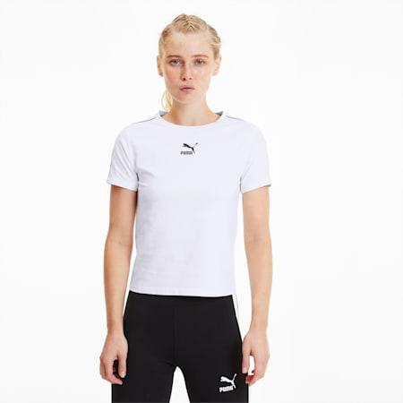 Top étroit Classics pour femme, Puma White, small