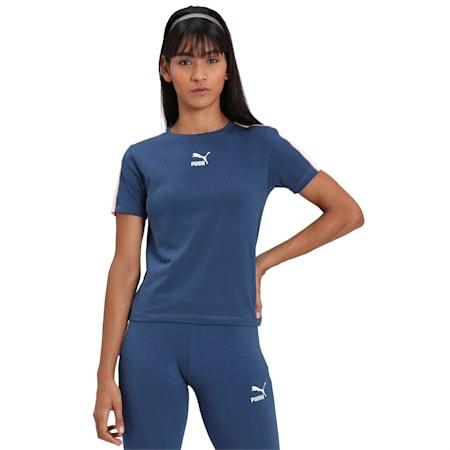 Classics Tight Women's Slim Fit Top, Dark Denim, small-IND