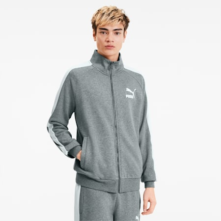 Iconic T7 Men's Track Jacket, Medium Gray Heather, small
