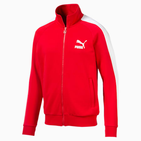 Iconic T7 Men's Track Jacket, High Risk Red, small-SEA