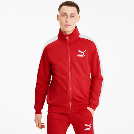 Iconic T7 Men's Track Jacket, High Risk Red, small