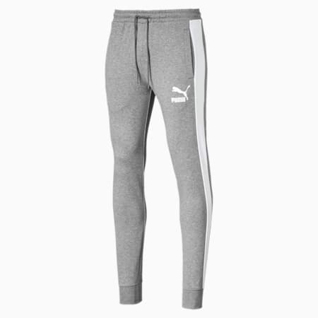 Iconic T7 Men's Track Pants, Medium Gray Heather, small