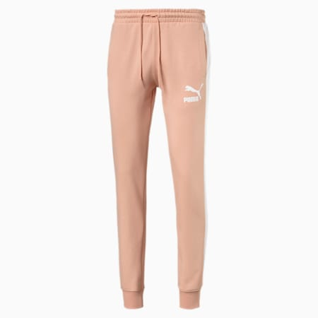 Iconic T7 Men's Track Pants, Pink Sand, small