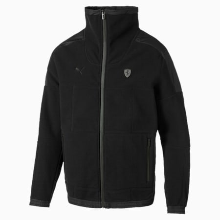 Ferrari Reflective Tech Men's Fleece Jacket, Puma Black, small-IND