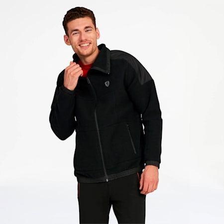 Scuderia Ferrari RCT Men's Tech Fleece Jacket, Puma Black, small
