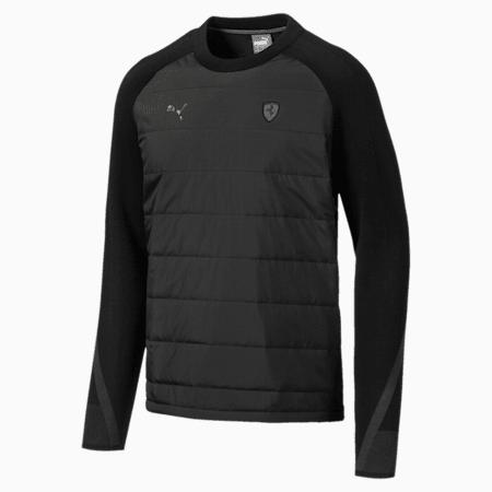Ferrari evoKNIT Midlayer Men's Sweater, Puma Black, small-IND