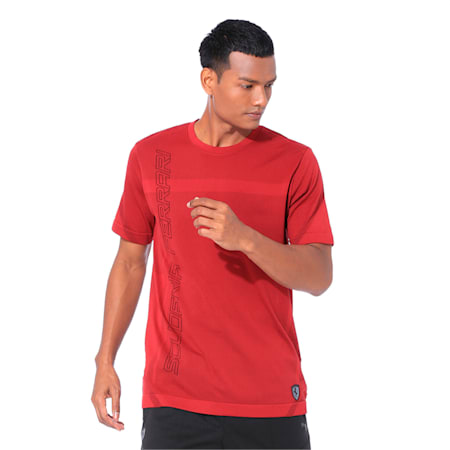 Ferrari RCT evoKNIT Men's T-Shirt, Rhubarb, small-IND