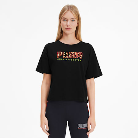 PUMA x SOPHIA WEBSTER ウィメンズ Tシャツ, Puma Black, small-JPN