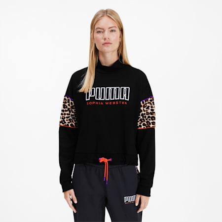 PUMA x SOPHIA WEBSTER Women's Crewneck Sweatshirt, Puma Black, small