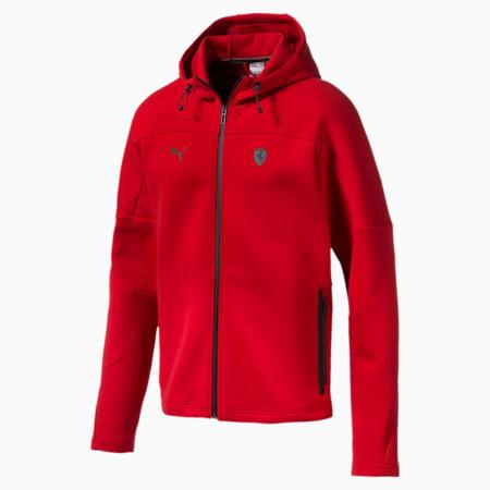 Ferrari Hooded Men's Sweat Jacket, Rosso Corsa, small-SEA