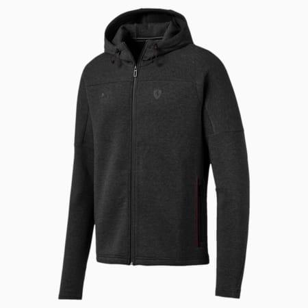 Ferrari Hooded Men's Sweat Jacket, Dark Gray Heather, small-IND