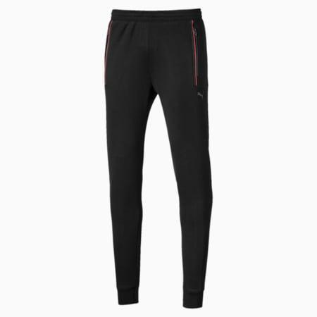 Ferrari Knitted Men's Sweatpants, Puma Black, small-SEA