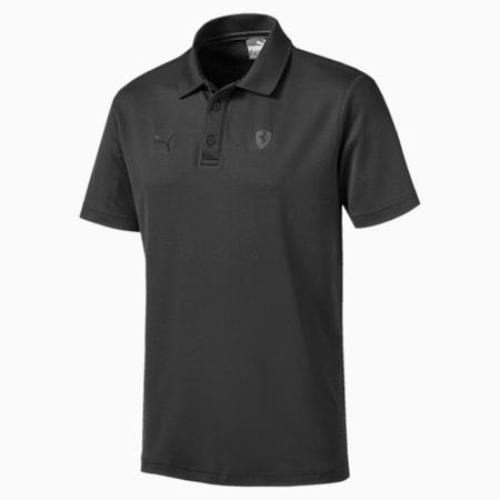 Ferrari Men's Polo Shirt, Phantom Black, small-IND