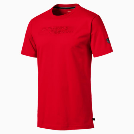 Ferrari Logo Men's T-Shirt, Rosso Corsa, small-IND